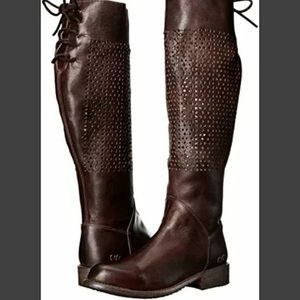 Cambridge Rustic High Brown Boots